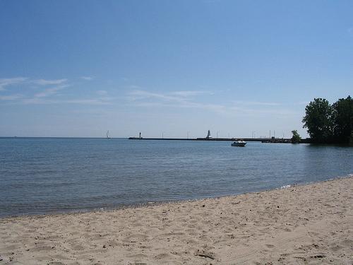 burlington ontario beach near canal entrance