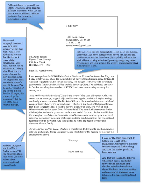 screenplay agent cover letter