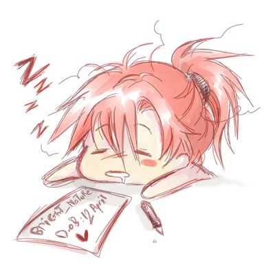 sleepy writer | The Idea Girl Says Word Press