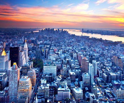 new york city skyline. new-york-city-skyline-blue-