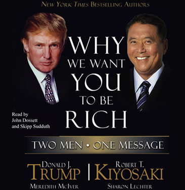 donald  j Trump robert  t Kiyosaki  meredith mciver sharon lecher why we want you to be rich book cover - the idea girl linda randall