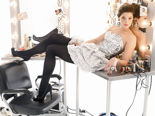 prom ashley greene black tights silver white top bling