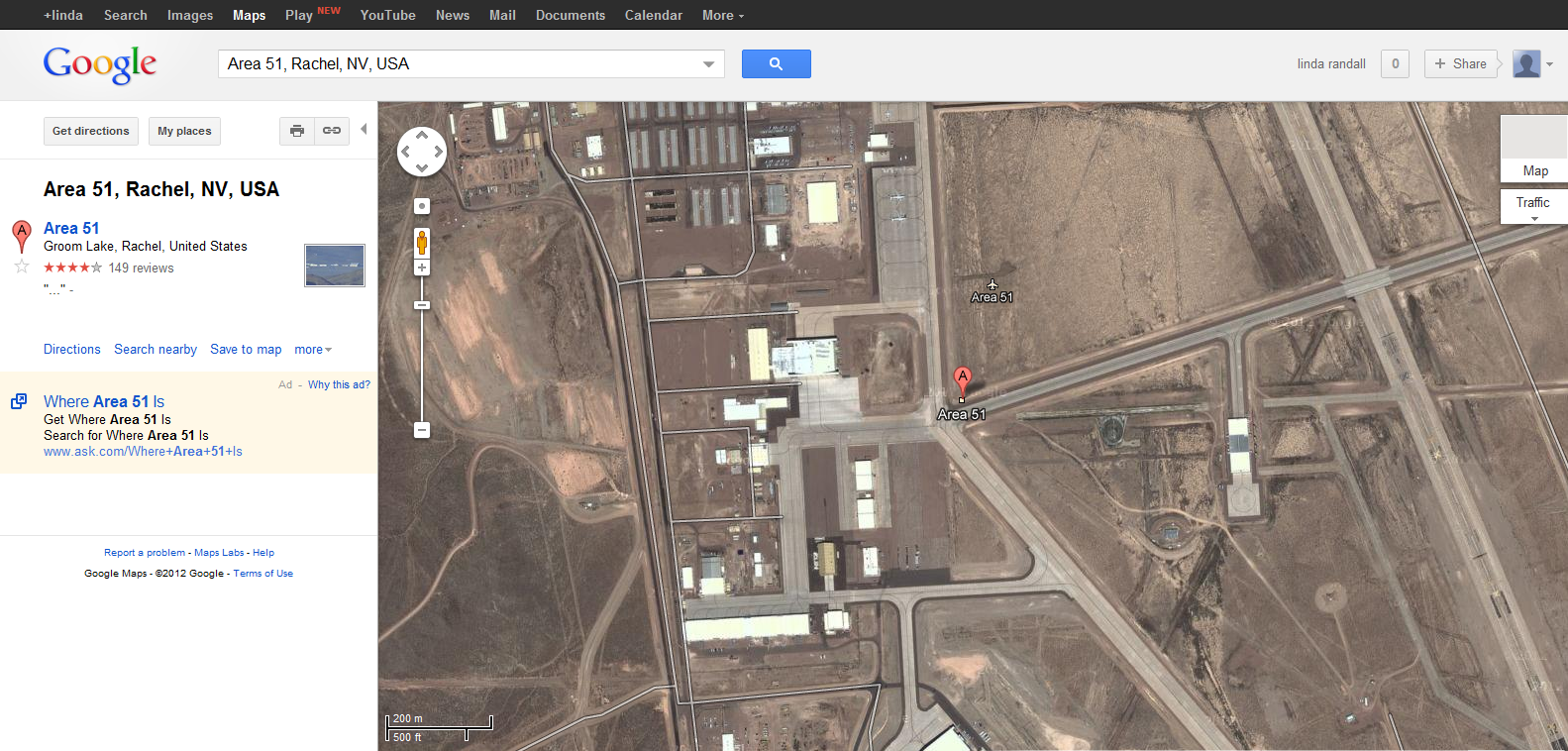 Area 51 Groom Lake Rachel NV USA Google Maps  The Idea