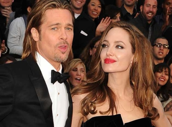bradd pitt and angelina jolie arrive at 84th annual academy awards feb 26, 2012 in hollywood california photo