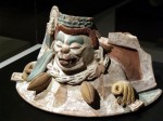 spider-monkey-guarding-chocolate mayan exhibit ROM toronto ontario canada march 2012