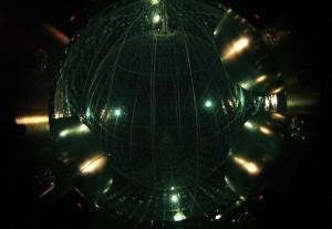 Inside the scintillator at Borexino. (Credit Borexino Collaboration)