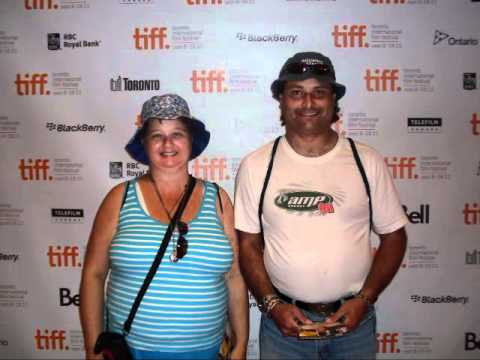 linda randall (the idea girl) and Harry at TIFF 2011 Bell light Theatre red carpet web tv show youtube celebrities