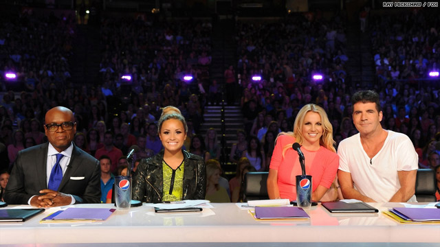 The X Factor USA TV Show Judges LA Reid Demi Lovato Britney Spears Simon Cowell August 17 2012 Photo