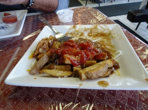 jersey poutine fries with ketchup bridgeburg family restaurant fort erie