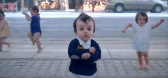 dancing with baby me evian bottled water funny commercial life is young