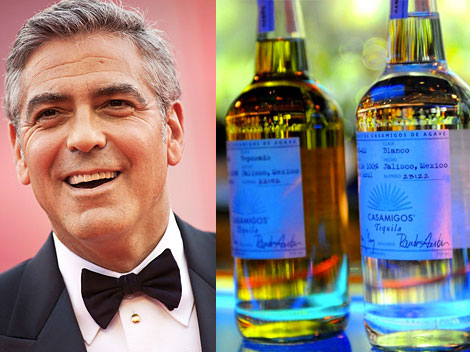 George Clooney Casamigos tequila  with friend RAnde Gerber
