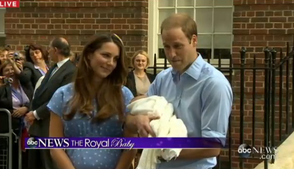 daddy prince william holds new born son royal baby kate middleton duke duchess prince of cambridge 23 jul 2013