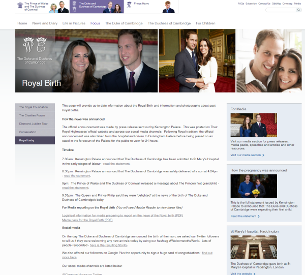duke and duches of cambridge org Royal Birth family news blogs pictures of daily events