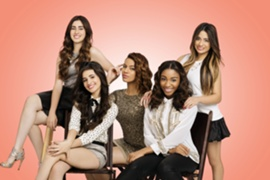 (In order from left to right) Lauren Jauregui, Camila Cabello, Dinah Jane Hansen, Normani Hamilton, Ally Brooke Hernandez pop R&B ballads 2012 x factor usa simon cowell's band
