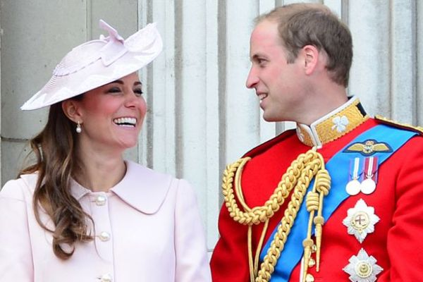 Pretty in pink hat coat Kate Middleton Prince William in royal red blue uniform teddy bear card solid sterling sivler good luck penny
