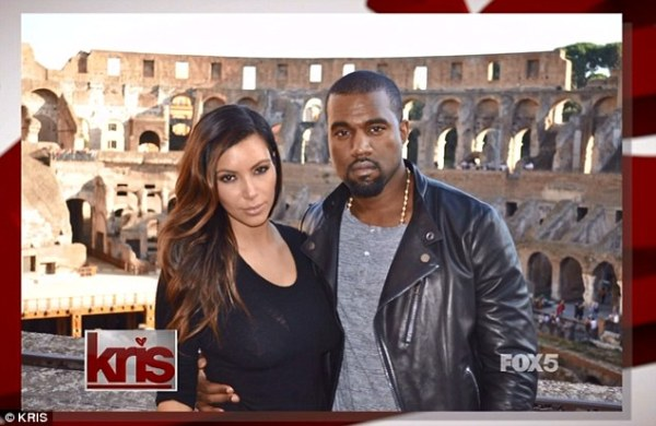 kim kardashian kanye west coliseum in Rome on Kris Kardasian tv show aug 23 2013