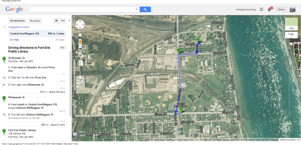 20 Bowden St, Fort Erie, ON L2A 2P2 to Fort Erie Public Library - Google Maps