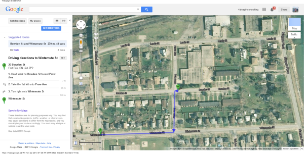 20 Bowden St, Fort Erie, ON L2A 2P2 to Wintemute St - Google Maps