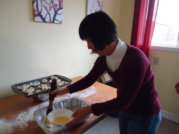 butter paint brush  pretzels recipe women's group community house fort erie 21 nov 2013
