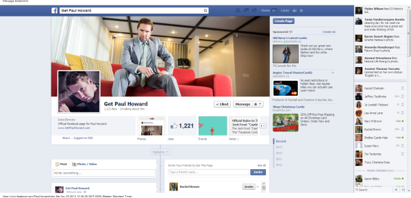 Facebook Get Paul Howard films Everything As Is Everything Twas 2013