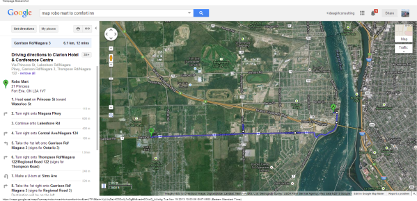 Robo Mart to Clarion Hotel   Conference Centre - Google Maps