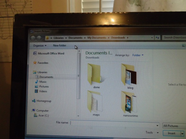 step 6 pick picture from documents - downloads - highlight it and pick insert microsoft one note