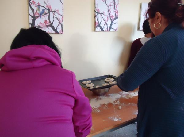 tina debbie lee making pretzel's community house women's group 21 nov 2013