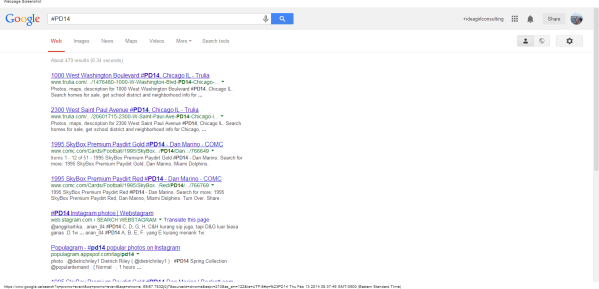 #PD14 - Google Search promo event didnt come up page 1 on 13 feb 2014 linda randall