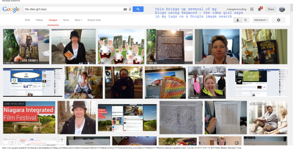 the idea girl says - Google Search my images link several of my blogs together Page #1 linda randall 4 mar 2014 #PD14 - Promo Day 31 May 2014