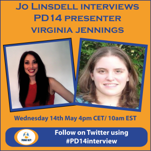 #PD14 presenter pre event interviews virginia jennings with Jo Linsdell - the idea girl says promo day event 31 may 2014