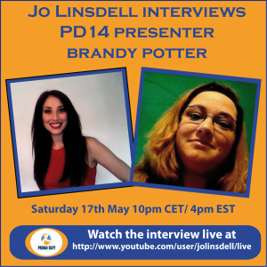#PD14  #promodayevent presenter pre event interviews Brandy Potter with Jo Linsdell - the idea girl says