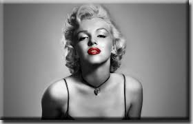 marilyn munroe black and white photo red lips canvas sexy girl meghan trainor lips are movin 50s 60s bubble gum pop rock songs