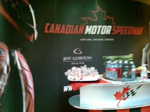 canadian motor speedway grand opening cakes with flags water canadian tire sponsor foods 27 june 2015 fort erie linda randall idea girl canada