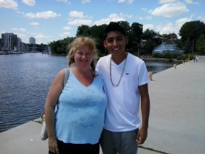 Linda Randall Blogger Idea Girl Says meets Bachata Music Artist MC Sulek Oakville Pier Ont Canada 23 July 2015